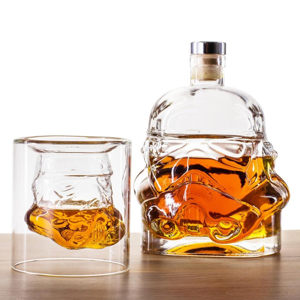 Storm Trooper Decanter + 2 Whisky Tumbler Set