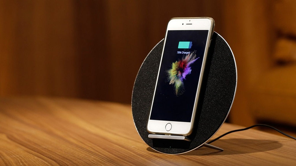 The Eclipse™ 3-in-1 Wireless Charger with Bluetooth Speaker