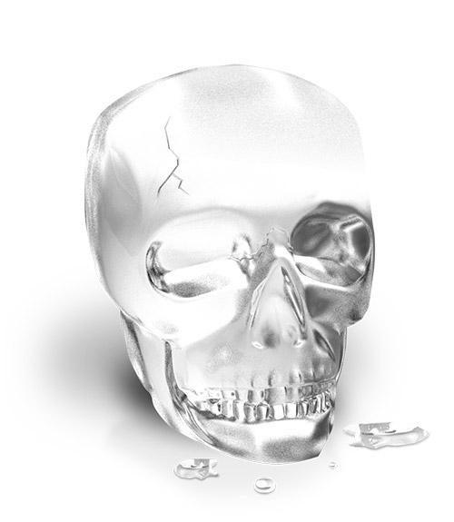 The Whiskey Jack™ Skull Ice Mold