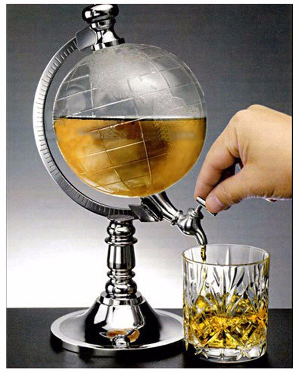 1492 Vintage Behaim Whiskey Globe Dispenser