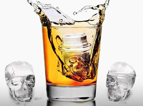 The Jack Trio™ Three Piece Skull Ice Molds