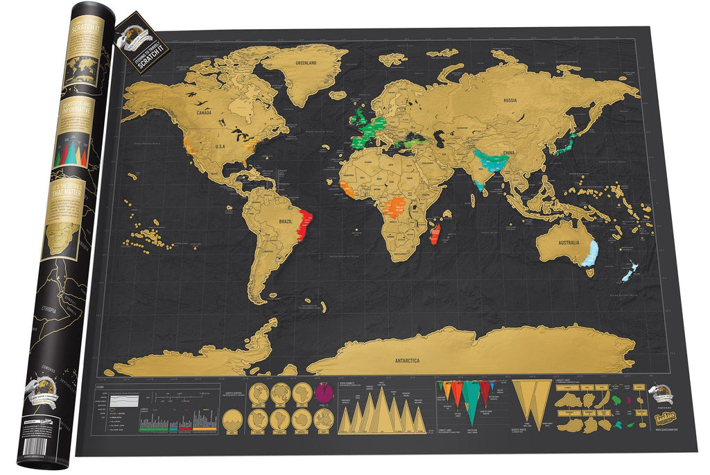 The Meraviglia™ World Adventure Golden Scratch Off Map