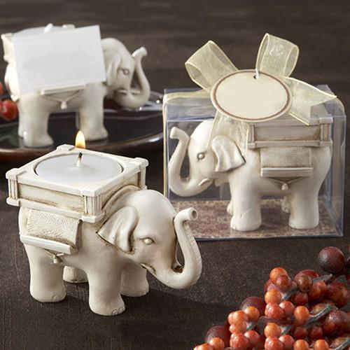 The Path of Rightness Elephant Candle Holder