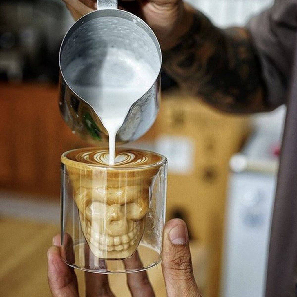 Coffee Skull Glass