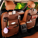 TidySmart™ Leather Accented Car Back Seat Organizer