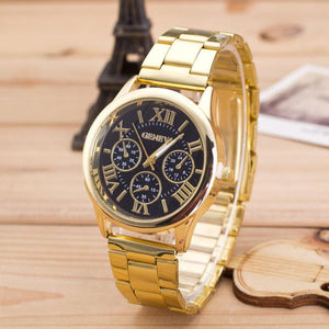 Gold Geneva Boss Watch [Special Offer]