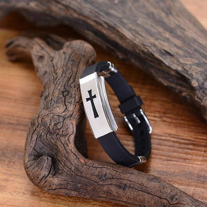 Reverence Stainless Steel Crucifix Bracelet [FREE]