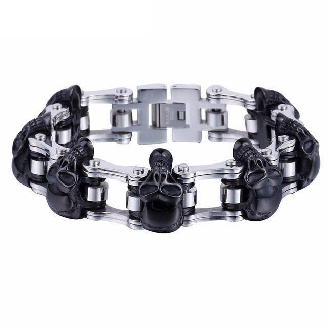 """Bad To The Bone"" Skulls Bracelet"