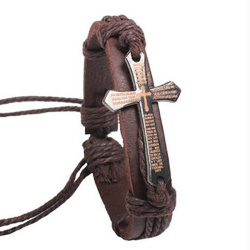The Lords Cross Leather Bracelet