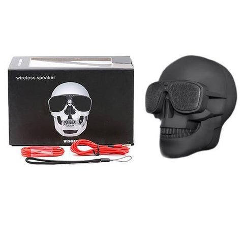"""Bad To The Bone"" Skull Wireless Bluetooth Speaker"