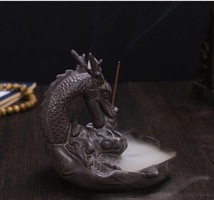 Imperial Dragon™ Ceramic Incense Burner