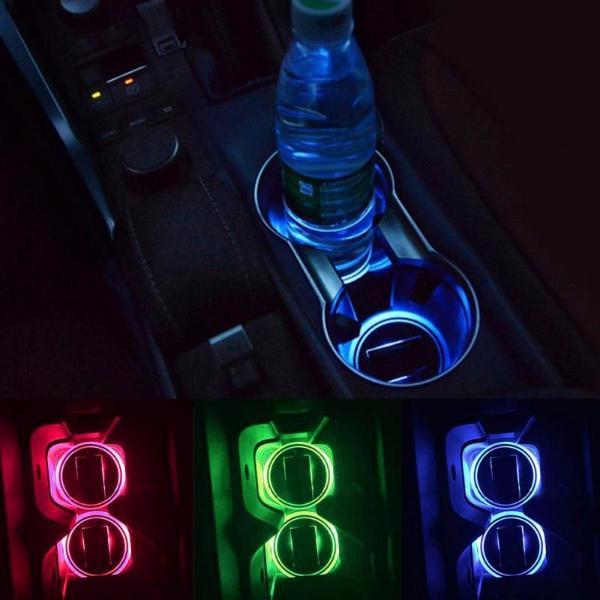 2pcs Solar LED Cup Holder Coaster