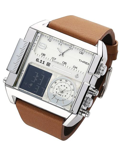 men watches leather square s quartz dress couple band