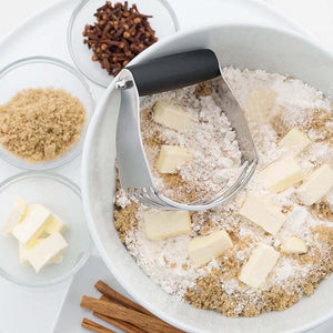 Mash-It™ - Dough Blender, Pastry Cutter with Heavy Duty Stainless Steel Blades<p><b>50% OFF TODAY ONLY</b>