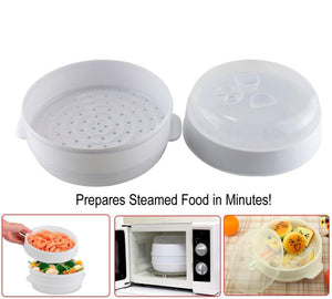 Kitchen Hand™ - 2 Tier Microwave Steamer<p><b>50% OFF TODAY ONLY</b>