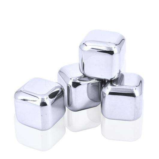 Stainless Steel Whiskey Stones (4pcs)