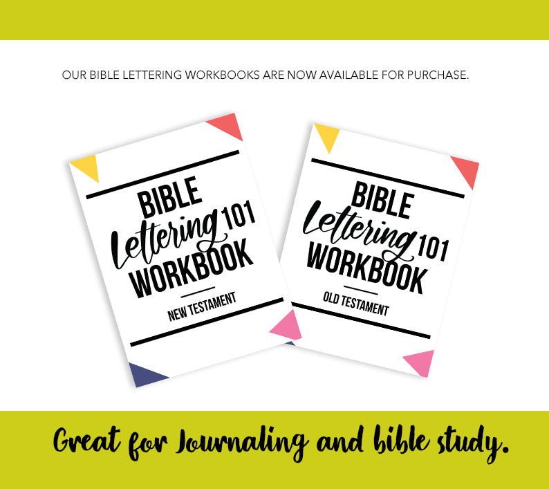 Full Bible Lettering Workbook Package