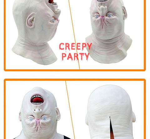 Grimace Latex Terribly Scary Upside Down Ghost Party Mask - Fashion mi style