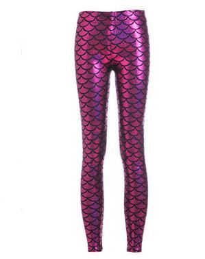 Plus Size Mermaid Leggings Women Candy Color Slim Spandex Fitness Jeggings Women Sexy Halloween Trousers Pants calzas mujer D085