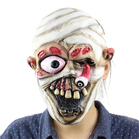 Cool New Play Latex Realistic Crazy Rubber Creepy Party Mask - Fashion mi style