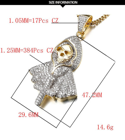 Hiphop Rock Punk Ghost Party Jewelry Jesus Cross Specter Pendant - Fashion mi style