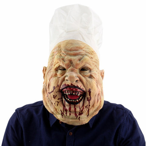 Realistic Latex Horrifying Mask With Hat For Masquerade Halloween Party