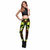Image of Halloween Poison Skull Rose Prints Elastic Slim Fitness Workout Women Leggings Plus Size - Fashion mi style