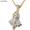 Image of Hiphop Rock Punk Ghost Party Jewelry Jesus Cross Specter Pendant - Fashion mi style