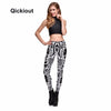 Image of Women's Leggings Skull Finger Stretch Digital Print Pencil Pants