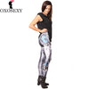 Image of Halloween ROBOT Comic Cartoon Printed High Waist Woman leggings - Fashion mi style
