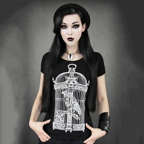 Gothic Black Tees Halloween Day Party Queen printed T shirt for Special party - Fashion mi style