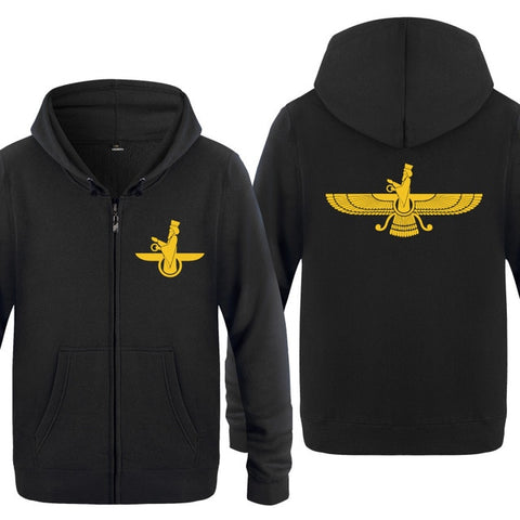 Farvahar Persian Symbol Of Zoroastrian Hoodie Jacket & Sweatshirt - Fashion mi style