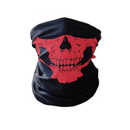 Halloween Skeleton Outdoor Multi function Ghost Half Face Mask Scarf - Fashion mi style
