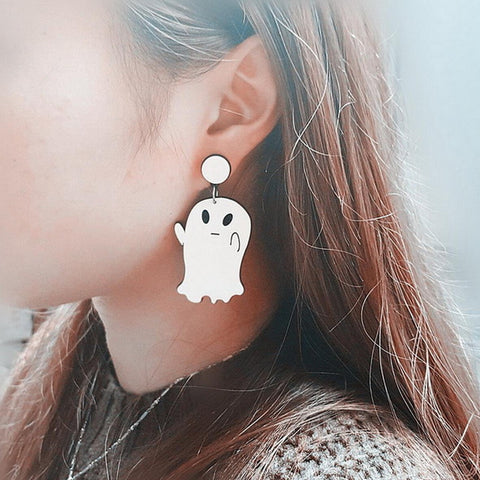 Cute Ghost Halloween New Fashion Stud Earrings - Fashion mi style