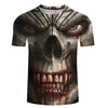 Image of Skull 3D Casual Tops Short Sleeve Halloween O-neck Print Street wear T-shirts