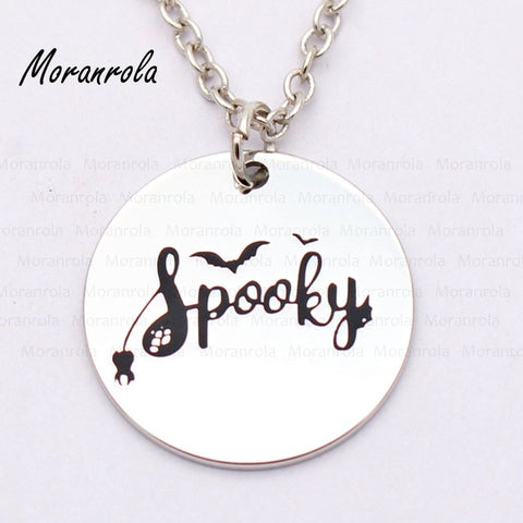 Halloween spooky Ghost spider web Necklace - Fashion mi style