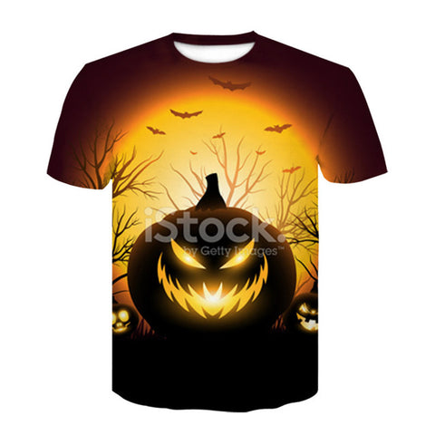 Fashion New Cool 3-d Print Halloween Short Sleeve Summer Tops S-4 XL T-shirts - Fashion mi style