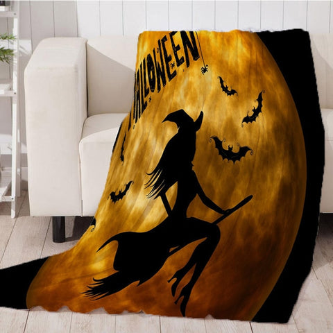 Thicking Throw Art Beach Towel Machine Washable Halloween Blanket for travel