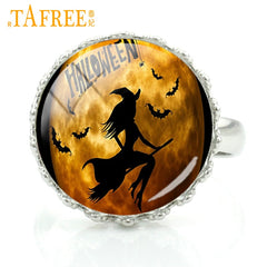 Image of New Witch Handmade Crown Rings For Make-Up Party And Halloween Gifts