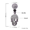 Image of Steampunk Black Long Gothic Drop Statement Earrings