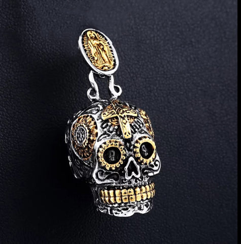 COOl NEW SKULL CROSS PENDANT NECKLACE FOR WOMEN - Fashion mi style