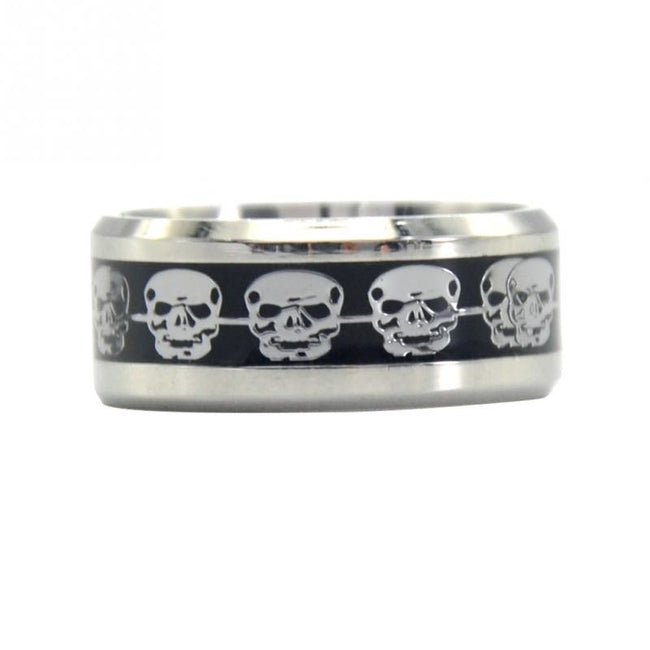 Vintage Punk Skull Stainless Steel Titanium Hiphop Ring