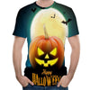 Image of New Halloween Clothing 3D Print Pumpkin Lantern Casual Skeleton Tops Hip-Hop Skull Fashion T-Shirt