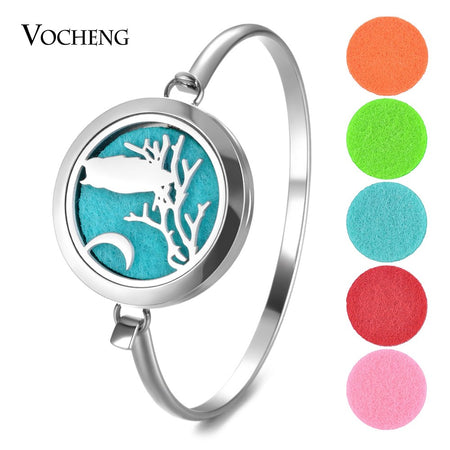 10 PCs/lot Essential Oil Diffuse Stainless Steel Perfume Locket Bangle 2 Styles without Felt Pads - Fashion mi style
