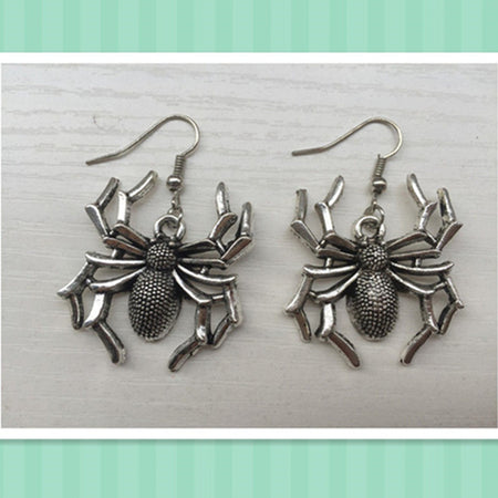 2018 New Trendy silver plated Spider Earrings, halloween gift - Fashion mi style