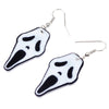 Image of Acrylic Halloween Howling Ghost Earrings Dangle Drop Big Long Fashion Jewelry - Fashion mi style