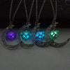 Image of Hot Necklace Halloween Starry Moon Time Luminous Necklace Luminous Love Pendant - Fashion mi style