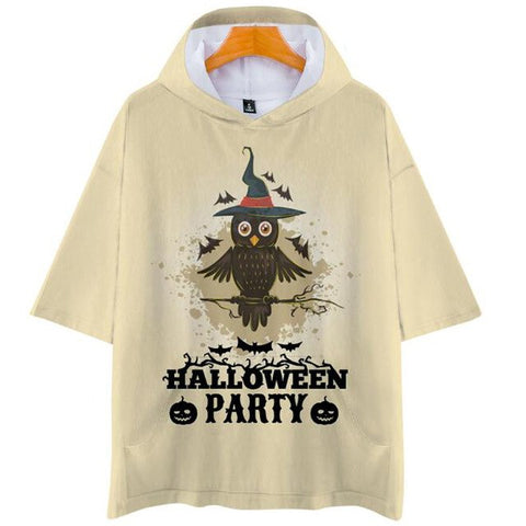 Plus Size XXS-4XL Women Halloween Pumpkin 3-D T-Shirt