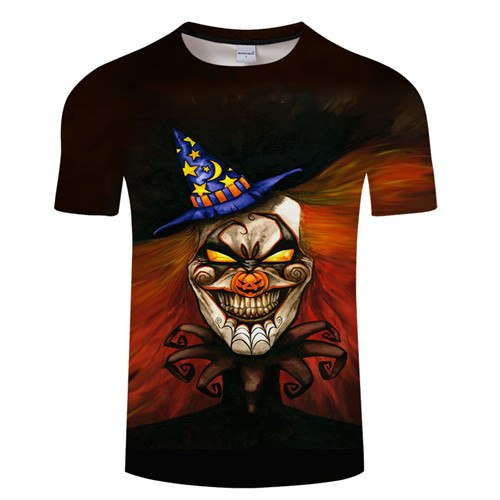 Jack-O'-Lantern Men Halloween Camiseta Hip Hop T-shirt - Fashion mi style