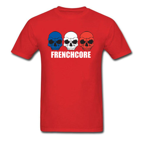Frenchcore Skulls T Vintage Graphic Cartoon Hip Hop Skull Tshirt - Fashion mi style